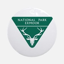 Exmoor National Park, UK Round Ornament