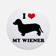 I love my wiener Ornament (Round)