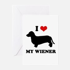 I love my wiener Greeting Cards (Pk of 10)