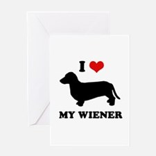 I love my wiener Greeting Card