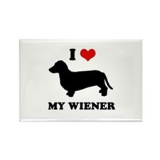 I love my wiener Rectangle Magnet