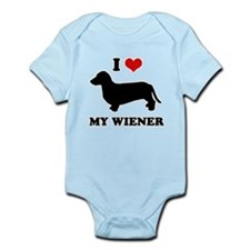 I love my wiener Infant Bodysuit