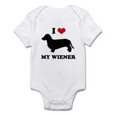 I love my wiener Infant Bodysuit