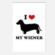 I love my wiener Postcards (Package of 8)
