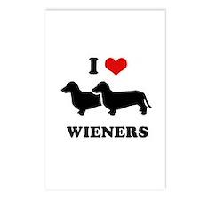 I love my wieners Postcards (Package of 8)