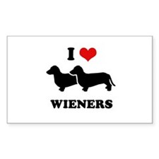 I love my wieners Rectangle Decal