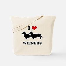 I love my wieners Tote Bag