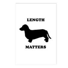 Length matters Postcards (Package of 8)