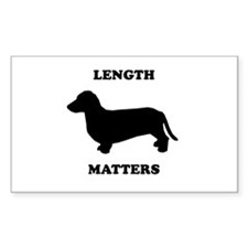 Length matters Rectangle Decal
