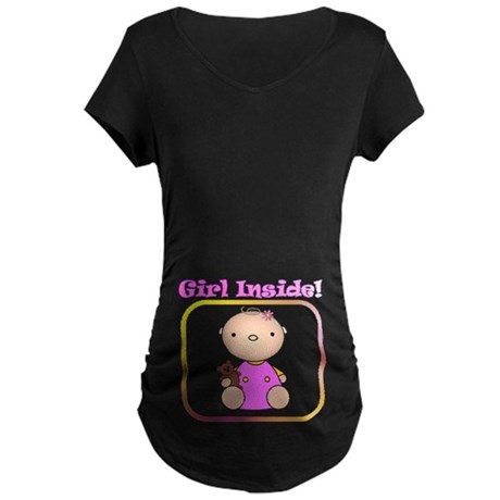 Girl Inside, Maternity Dark T-Shirt