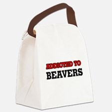 Addicted to Beavers Canvas Lunch Bag