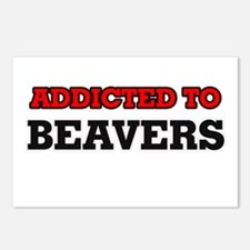 Addicted to Beavers Postcards (Package of 8)