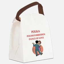 polka Canvas Lunch Bag