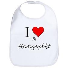 I Love My Horographist Bib