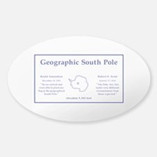 Geographic South Pole, Antarctica Decal