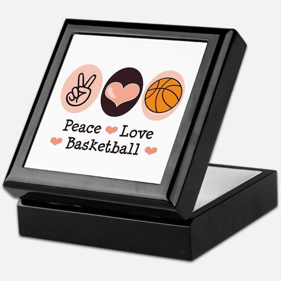 Peace Love Basketball Keepsake Box