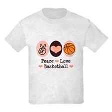 Peace Love Basketball T-Shirt