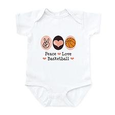 Peace Love Basketball Infant Bodysuit