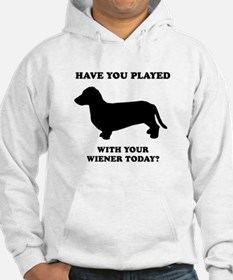 Have you played with your wiener today? Hoodie