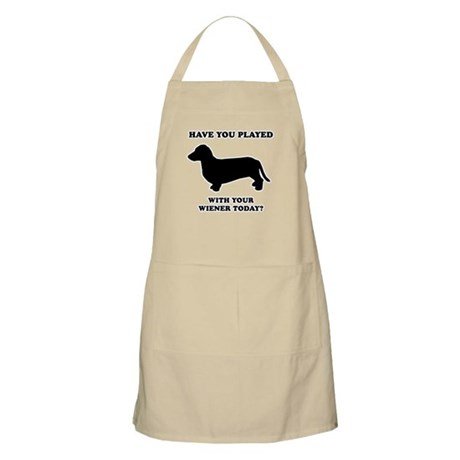 Have you played with your wiener today? BBQ Apron