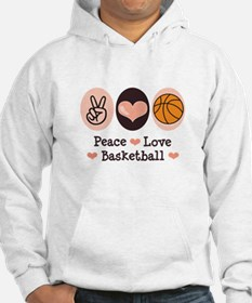 Peace Love Basketball Hoodie