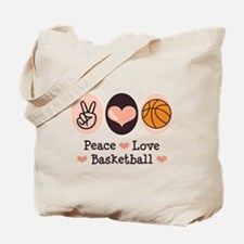 Peace Love Basketball Tote Bag