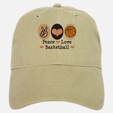Peace Love Basketball Baseball Baseball Cap