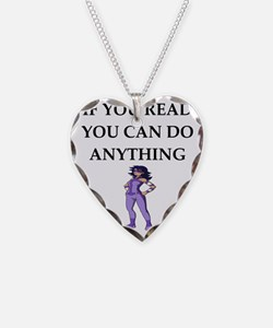 reading joke Necklace
