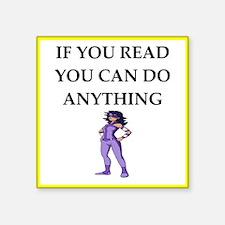 reading joke Sticker