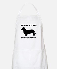 Rub my wiener for good luck BBQ Apron