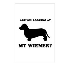 Are you looking at my wiener? Postcards (Package o