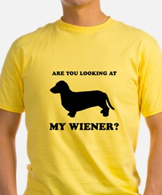 Are you looking at my wiener? T