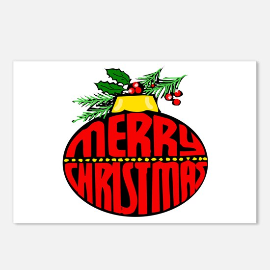 Merry Christmas Orn Postcards (Package of 8)