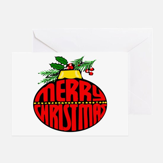 Merry Christmas Orn Greeting Card