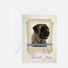 Mastiff Thank You Card Greeting Cards