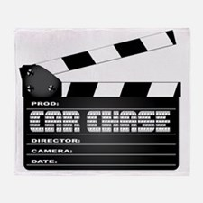 Funny Hollywood movie camera Throw Blanket