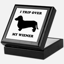 I trip over my wiener Keepsake Box