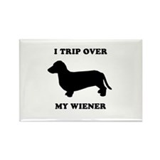 I trip over my wiener Rectangle Magnet