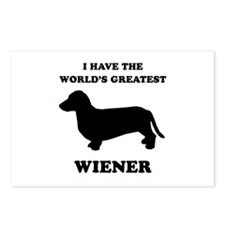 I have the world's greatest wiener Postcards (Pack