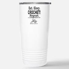 Eat. Sleep. CROCHET! Repeat. Travel Mug