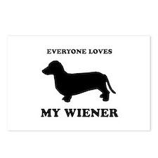 Everyone loves my wiener Postcards (Package of 8)