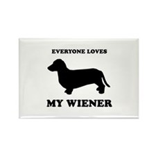 Everyone loves my wiener Rectangle Magnet