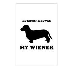 Everyone loves my wiener Postcards (Package of 8)