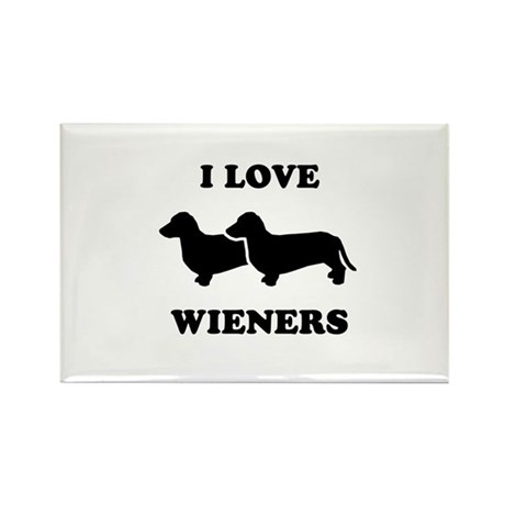 I love my wieners Rectangle Magnet (100 pack)