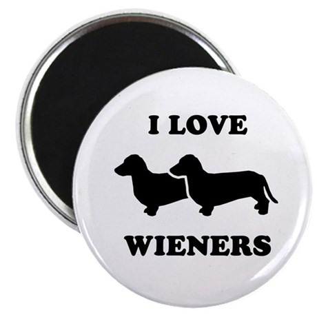 "I love my wieners 2.25"" Magnet (10 pack)"