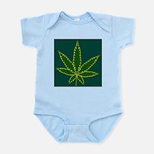 Cannabis Leaf Background Body Suit