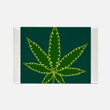 Cannabis Leaf Background Magnets