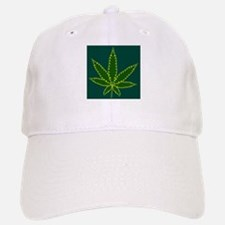 Cannabis Leaf Background Baseball Baseball Cap