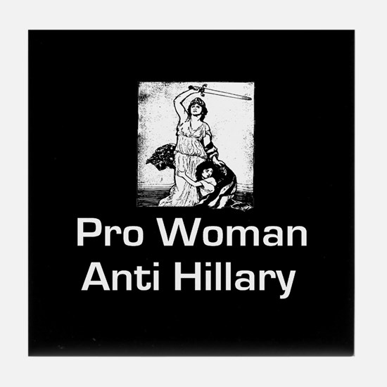 Funny Woman republican Tile Coaster