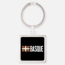 Basque Country: Basque Flag & Basq Square Keychain
